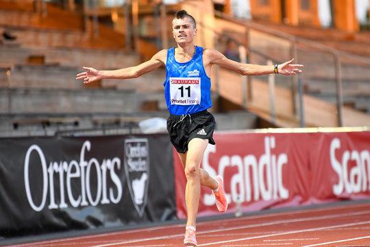 Emil yngste SM-vinnaren på 10 000 m på 121 år
